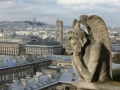 Figur am Turm der Kathedrale Notre Dame in Paris