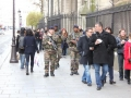 Polizei patroulliert durch Paris