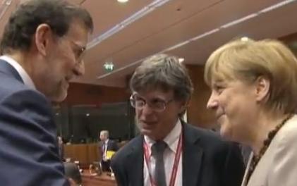 Angela Mekel auf dem EU-Gipfel, der die Weichen für die Bankenunion stellen sollte /Screenshot aus einem Video im Text