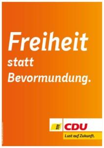 Wahlplakat der CDU 2016