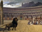 Das letzte Gebet der Christen im Circus Maximus von Jean-Leon Gerome (1863–1883) / Jean-Léon Gérôme [Public domain or Public domain], via Wikimedia Commons