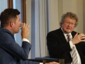 Thueringes CDU-Chef Mike Mohring und der Politikwissenschaftler Werner Patzelt © Wolfgang Prabel