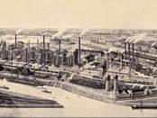 Industrielle Revolution: Die Kruppschen Huettenwerke Rheinhausen Beginn des 20. Jh. / Public Domain, https://commons.wikimedia.org/w/index.php?curid=532972