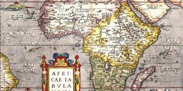 Afrika aus europäischer Sicht um 1570 / Wikipedia Public Domain; https://commons.wikimedia.org/wiki/File:Africae_tabula_nova.jpg#file