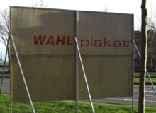 Wahlplakat / By Punktional (Own work) [Public domain], via Wikimedia Commons; https://commons.wikimedia.org/wiki/File%3AWahlplakat.JPG