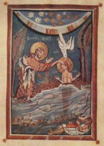Miniatur aus dem Hitda-Evangeliar, um 1020