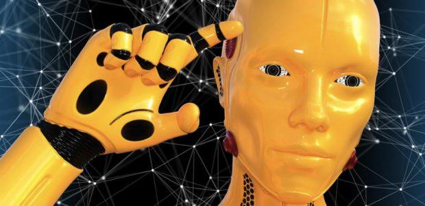 Roboter / Quelle: Pixabay, lizenezfreie Bilder, open library: https://pixabay.com/de/roboter-k%C3%BCnstliche-intelligenz-3490522/