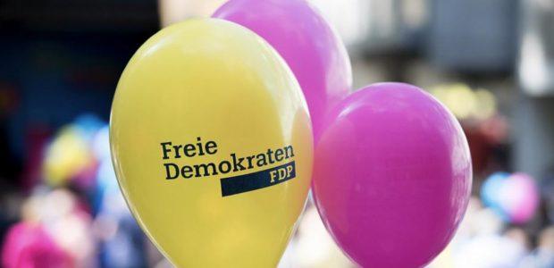 FDP / Quelle: Pixabay, liznenzfreie Bilder, open library: https://pixabay.com/de/photos/ballon-fdp-gelb-magenta-bunt-2333925/