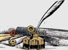 Schreiben / Quelle: Pixabay, linzenzfreie Bilder und Grafiken, open library: https://pixabay.com/de/illustrations/schreiben-federkiel-b%C3%BCcher-1043622/