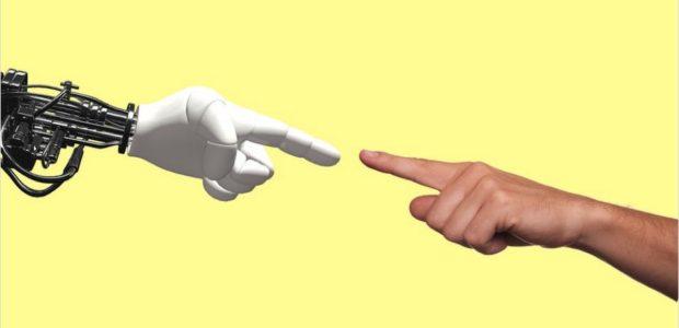 Technologie Roboter / Quelle: Pixabay, lizenezfreie Bilder, open library: https://pixabay.com/de/illustrations/technologie-roboter-menschliche-2025795/