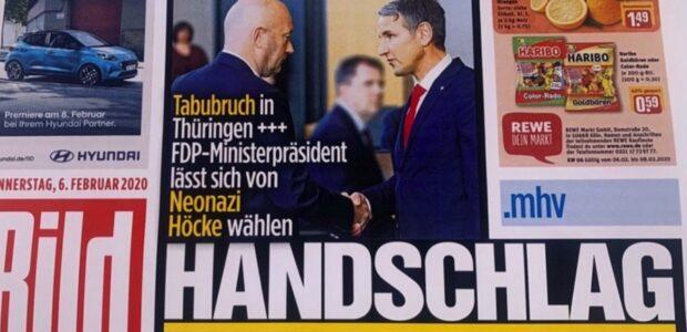 Aufmachung der Bild-Zeitung / Foto: GEOLITICO