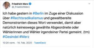 Tweet von Friedrich Merz