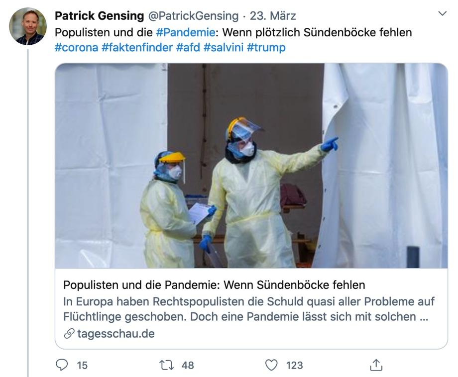 Tweet von Patrick Gensing
