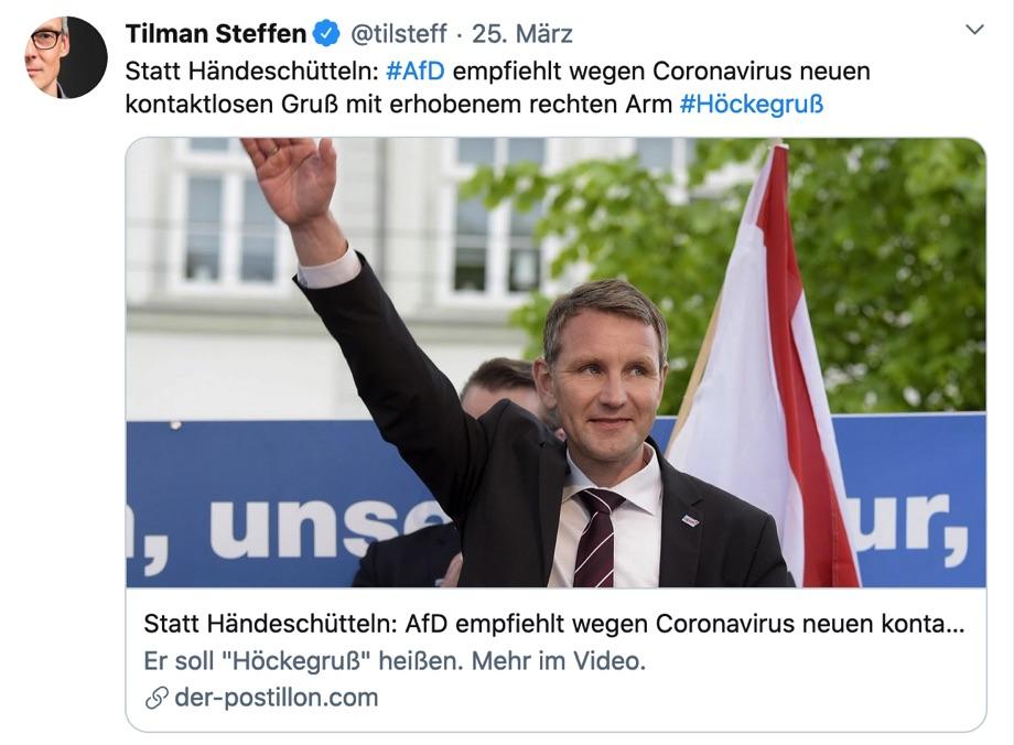 Retweet von Tilman Steffen