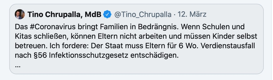 Tweet von Tino Chrupalla