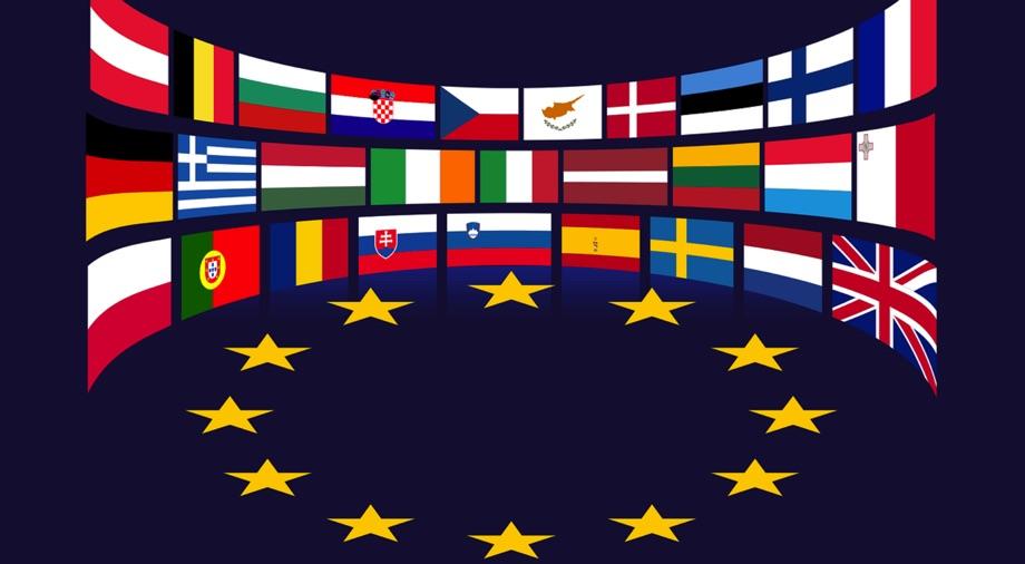 Laender EU / Quelle: Pixabay, lizenzfreie Bilder, open library: GDJ; https://pixabay.com/de/vectors/europ%C3%A4ischen-union-fahnen-sterne-eu-1328255/