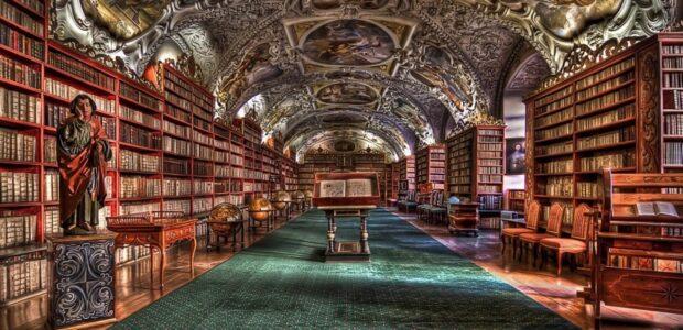 Bibliothek Prag / Wissen/ Quelle: Pixabay, lizenezfreie Bilder, open library; iozoca: https://pixabay.com/de/illustrations/prag-bibliothek-prag-kloster-b%C3%BCcher-980732/