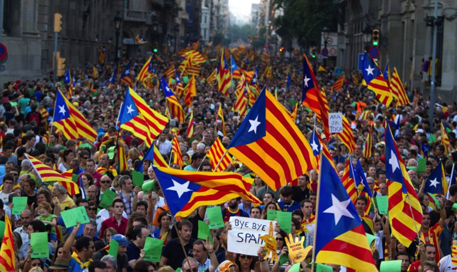 Katalanische Separatisten in Barcelona / Foto SSB:SHB