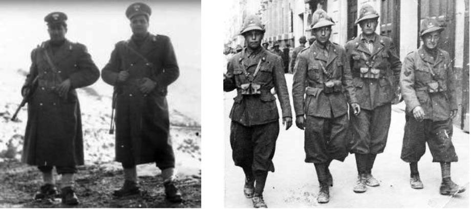 Carabinieri und Alpini in Südtirol schritten nicht gegen den Terror ein - Uniformierte beteiligten sich zum Teil sogar daran. Fotos: Archiv Golowitsch