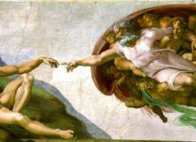 Der Mensch Gott erschafft Adam / Quelle: Michelangelo, Public domain, via Wikimedia Commons; File url: https://upload.wikimedia.org/wikipedia/commons/a/ac/Creaci%C3%B3n_de_Ad%C3%A1m.jpg; Page url: https://commons.wikimedia.org/wiki/File:Creaci%C3%B3n_de_Ad%C3%A1m.jpg