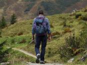 Bergwanderung / Quelle: Pixabay, lizenzfreie Bilder, open library: Hermann; https://pixabay.com/de/photos/bergsteigen-mann-wanderweg-pfad-455338/